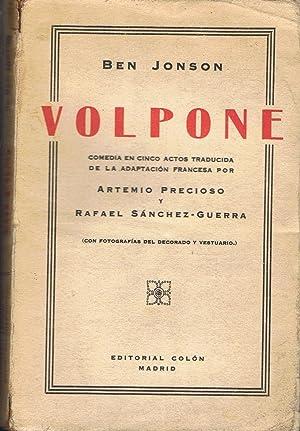 VOLPONE. Comedia en cinco actos: Jonson. Ben