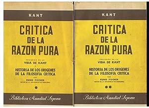 CRÍTICA DE LA RAZÓN PURA. Precedida de: Kant. Manuel, (1724
