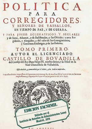 POLITICA PARA CORREGIDORES Y SEÑORES DE VASALLOS,: Bovadilla. Castillo de
