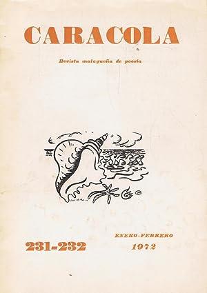 CARACOLA. Revista malagueña de poesía. Nº 231-232.: Estrada Segalerva. José-Luis,