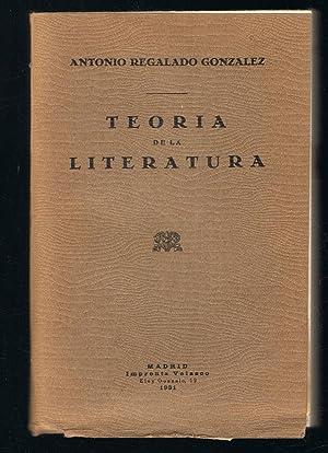 TEORÍA DE LA LITERATURA: Regalado González. Antonio
