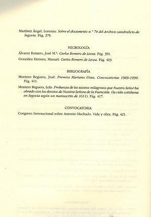 ESTUDIOS SEGOVIANOS. Tomo XLII, Nº 99: AA.VV