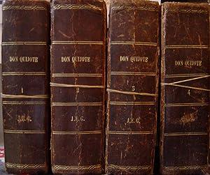 EL INGENIOSO HIDALGO DON QUIJOTE DE LA MANCHA. 4 Tomos: Cervantes Saavedra. Miguel,