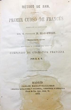 METODO DE AHN. PRIMER CURSO DE FRANCÉS-SEGUNDO: Mac-Veig. H.