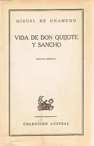 VIDA DE DON QUIJOTE Y SANCHO.: Unamuno. Miguel de,