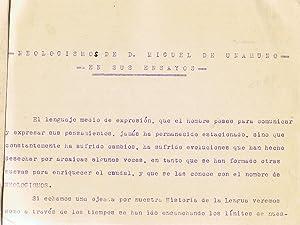 NEOLOGISMOS DE D. MIGUEL DE UNAMUNO EN SUS ENSAYOS.: Martín. Matilde,