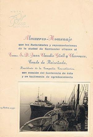 10 MENÚS DE TRASATLÁNTICOS Y 3 DE COMPAÑÍAS AEREAS.: Menús Barcos y ...