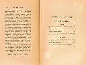 DEL AMOR AL DELITO. DELINCUENTES POR EROTOMANÍA PSICO-SEXUAL. 2 Tomos: Mellusi. Vincenzo