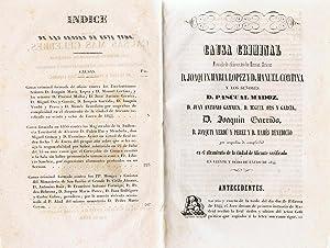 COLECCIÓN DE LAS CAUSAS MÁS CÉLEBRES. PARTE ESPAÑOLA TOMOS IX-X.: Una Sociedad literaria de Amigos