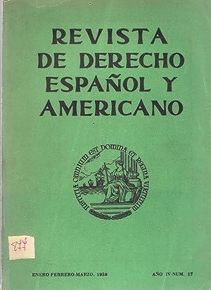 REVISTA DE DERECHO ESPAÑOL Y AMÉRICANO. Enero-Febrero-Marzo.: Puig Peña. Federico,