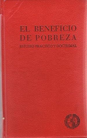 EL BENEFICIO DE POBREZA. ESTUDIO PRÁCTICO Y: Martín Herrero. José