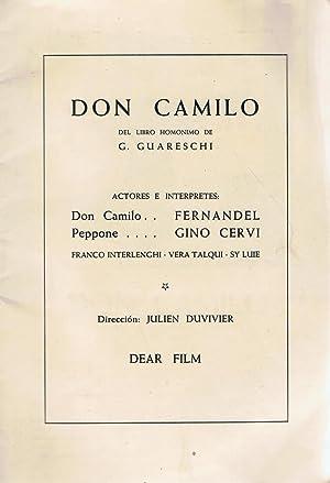 DON CAMILO. Novela Cinematográfica completa: Guareschi. G