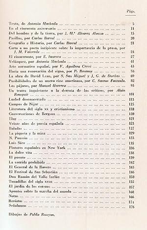 CUADERNOS DE ARTE Y PENSAMIENTO. Nº 4. Noviembre 1960: Revista de las Facultades de Filosofía ...