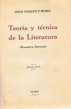 TEORÍA Y TÉCNICA DE LA LITERATURA (Preceptiva Literaria): Tamayo y Rubio. Juan