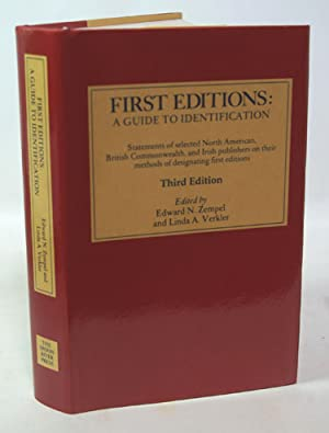 First Editions: A Guide to Identification: Edward N. Zempel
