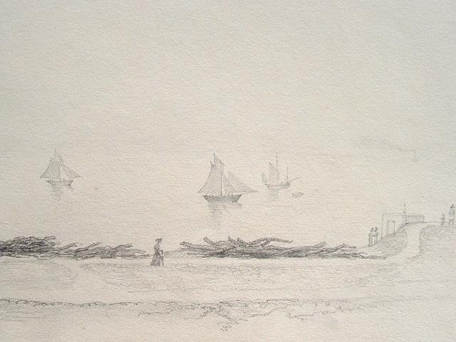 Seine maritime dessin de bord de mer dieppe traces - Dessin bord de mer ...