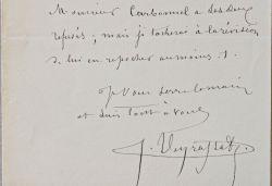 Cinq lettres du peintre Jules Jacques Veyrassat: Veyrassat Jules Jacques