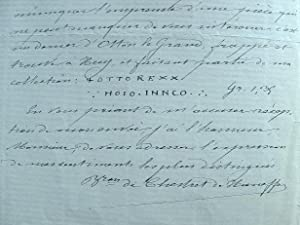 Chestret de Haneffe publie sa Numismatique de la principauté de Liège.: Chestret de Haneffe (baron)...
