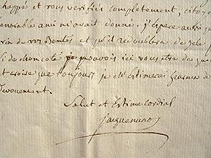 Lettre du sénateur Jacqueminot, inhumé au Panthéon.: Jacqueminot Jean Ignace ...