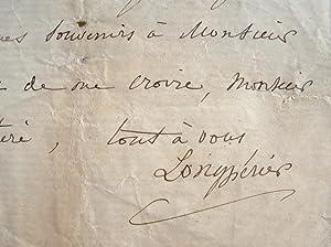 L'archéologue Longpérier peste après l'Imprimerie Impériale.: Longpérier (Prévost de)