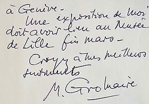Marcel Gromaire prépare une exposition à Lille.: Gromaire Marcel 1892