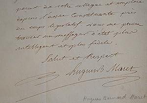 Maret s'adresse à Sieyès le jour de sa nomination à la présidence du Sénat.: Maret (duc de ...