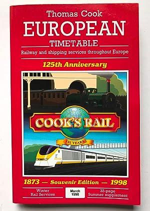 Thomas Cook European Rail Timetable - 125th: AA.VV.