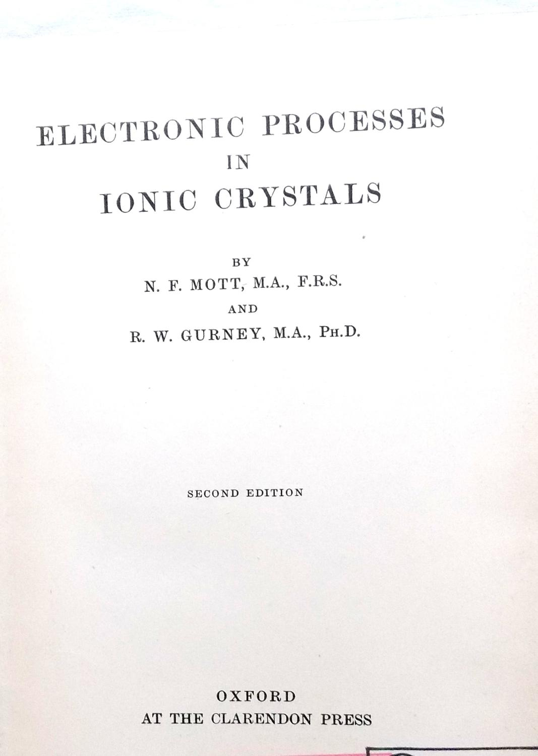 Electronic Processes in Ionic Crystals