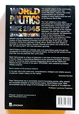 World Politics Since 1945 7th Edition: Calvocoressi, Peter