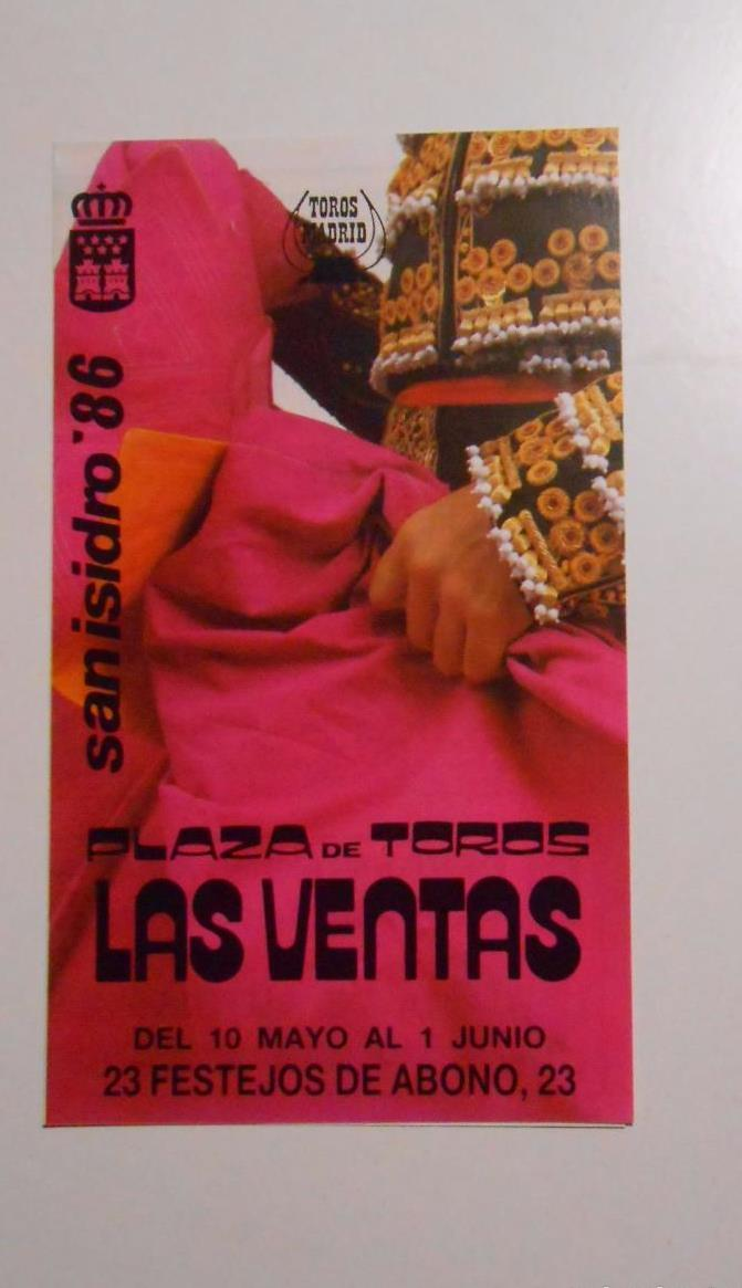 Calendario Junio 1986.Programa Calendario Plaza De Toros De Madrid