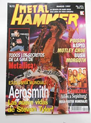 METAL HAMMER Nº 112. REVISTA DE HARD ROCK.POISON, METALLICA, ASPID, AEROSMITH. TDKR18