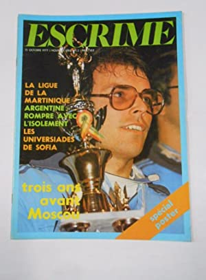 REVISTA DE ESGRIMA EN FRANCES. ESCRIME. OCTOBRE 1977. LA LIGUE DE LA MARTINIQUE. TDKR33