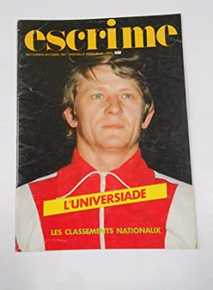 REVISTA DE ESGRIMA EN FRANCES. SEPTEMBRE 1981 L'UNIVERSIADE. TDKR33