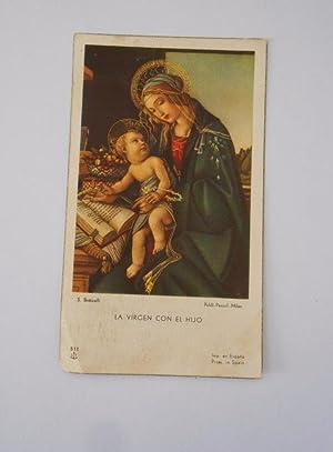 3eb755e3f8 ESTAMPA RELIGIOSA ORACION RECUERDO DEL MES DE MAYO HERMANOS MARISTAS  LOGROÑO 1965. TDKP7
