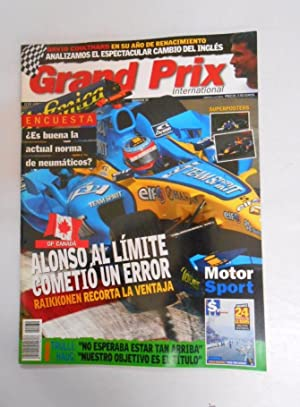 REVISTA GRAND PRIX INTERNATIONAL FORMULA 1 Nº 32. JUNIO 2005. GP CANADA. ALONSO COMETIO ERROR. TDKR3