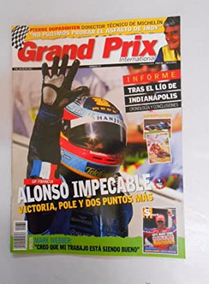 REVISTA GRAND PRIX INTERNATIONAL FORMULA 1 Nº 34. JULIO 2005. GP FRANCIA. ALONSO IMPECABLE TDKR3
