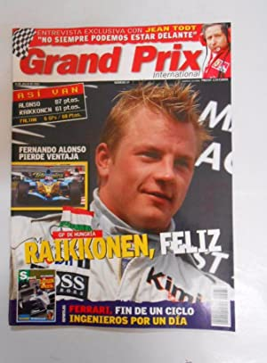 REVISTA GRAND PRIX INTERNATIONAL FORMULA 1 Nº 37 JULIO 2005. GP HUNGRIA RAIKKONEN FELIZ. TDKR3