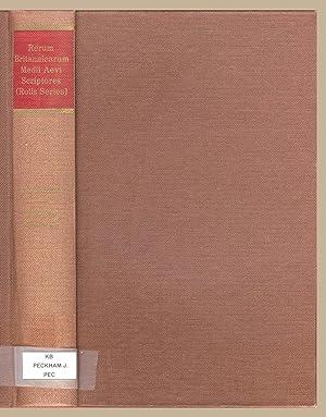 Registrum epistolarum fratris Johannis Peckham, Archiepiscopi Cantuariensis: John Peckham ,