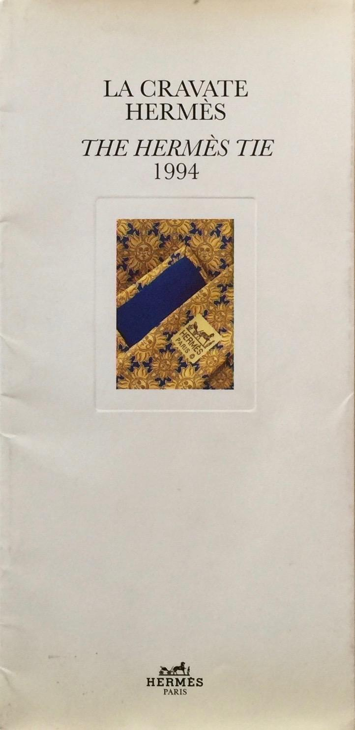 La Cravate Hermes / The Hermes Tie 1994 DARWEN JAMES Trade catalog for the 1994 collection of Hermes neckties. With die-cut overleaf to match tie with 8 different combinatioins of shirt patterns and jack