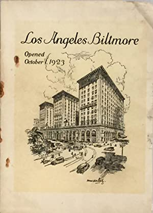 Los Angeles Biltmore: Opened October 1, 1923: BOWMAN, JOHN