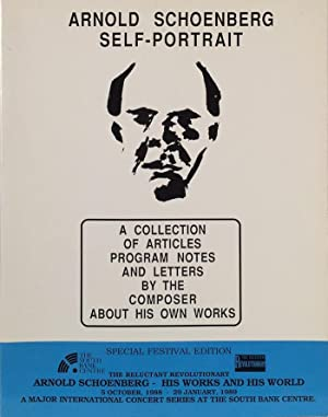 Arnold Schoenberg Self-Portrait. A Collection of Articles Program Notes and Letters by the Composer...