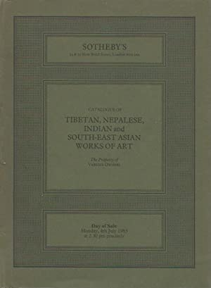 Auction Catalogue) TIBETAN, NEPALESE, INDIAN AND SOUTH-EAST