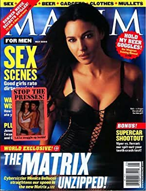 Maxim Magazine, May 2003 (Monica Bellucci Cover)