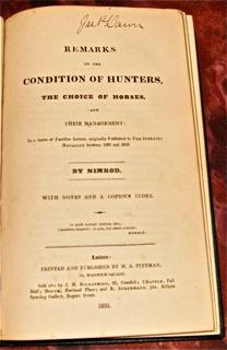 Remarks on the Condition of Hunters, the: Nimrod [Charles James
