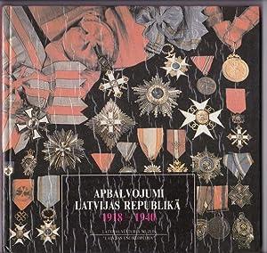 Apbalvojumi Latvijas Republika Decorations in the Republic: Ducmane, Kristine