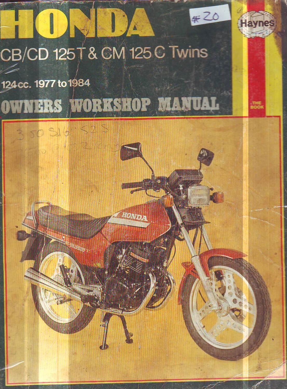 HONDA 125 CB125T CD125TC CM125 CC TWINS SERVICE WORKSHOP REPAIR MANUAL  1977-1984