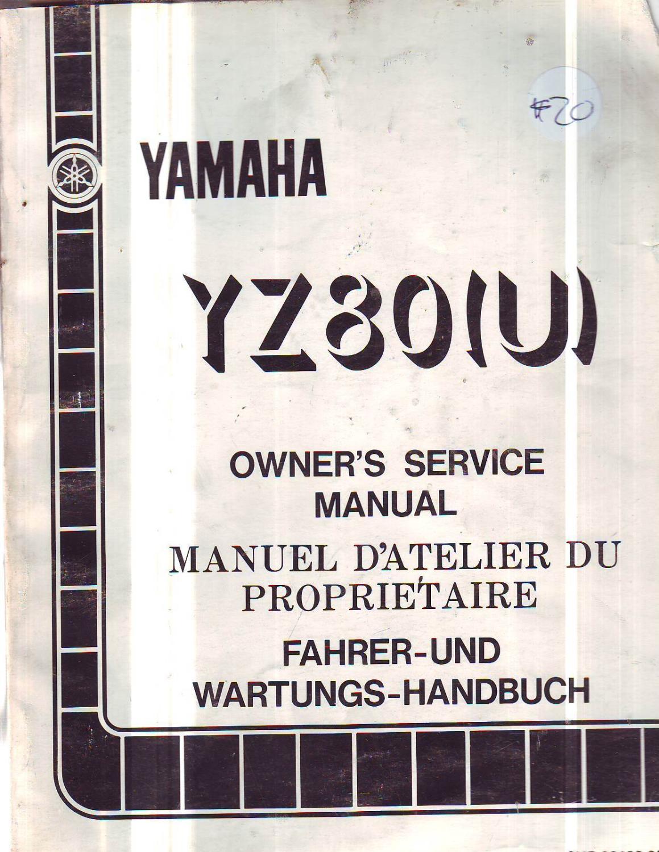 Yamaha Yz 80 U Genuine Workshop Service