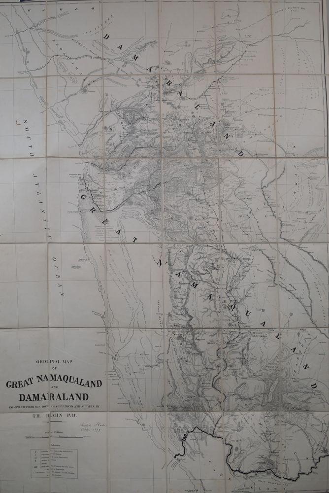 Original Map of Great Manaqualand and Damaraland Surveyor General Fine