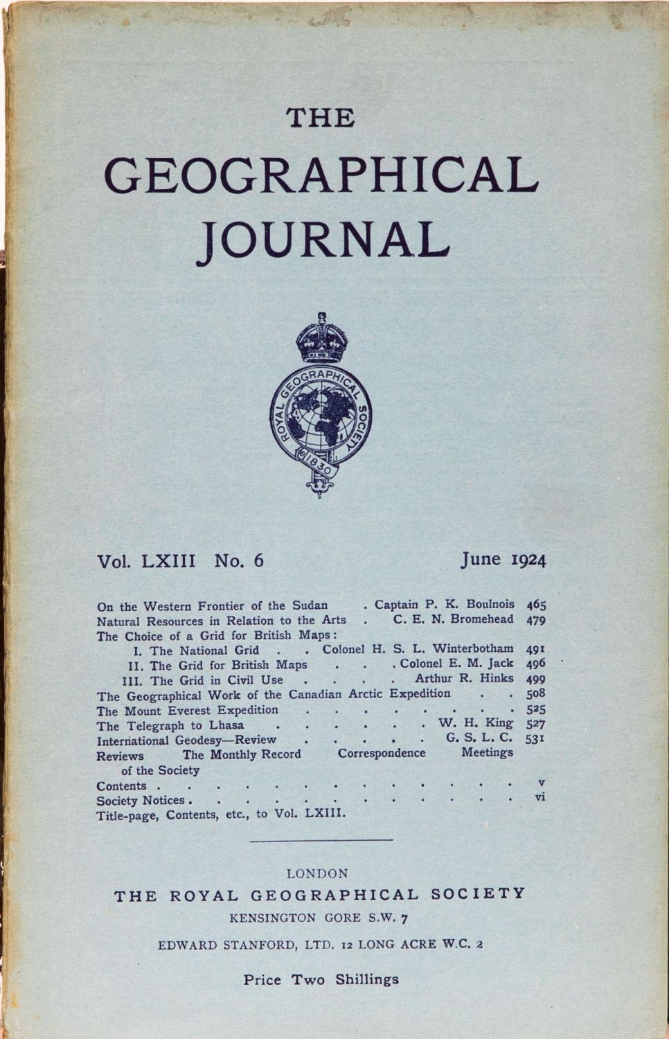 The Geographical Journal The Royal Geographical Society