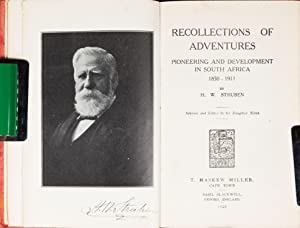 Recollections of Adventures 1850 - 1911: Struben, H.W.